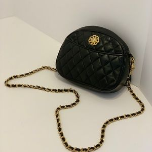 Handbags - Vintage Black Quilted Leather Crossbody